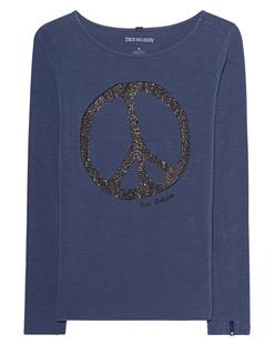 TRUE RELIGION Peace Rhinestones Blue