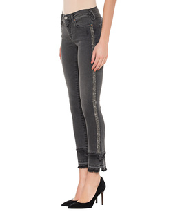 TRUE RELIGION Halle Modfit Black Rhinestones Grey