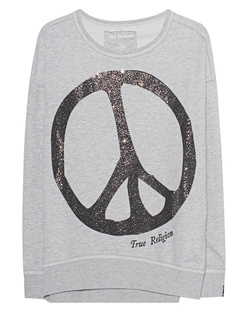 TRUE RELIGION Peace Sparkle Grey