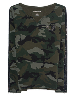 TRUE RELIGION Camo Dusty Love Camouflage