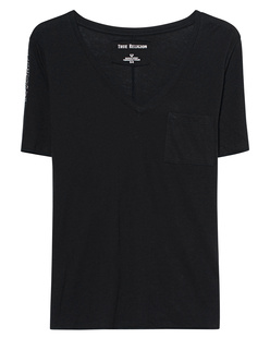 TRUE RELIGION Stripes V Shirt Black