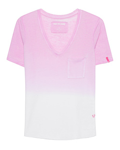 TRUE RELIGION V Neck Degradee Begonia Pink