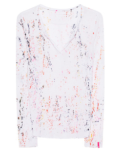 TRUE RELIGION V-Neck Long Splatter