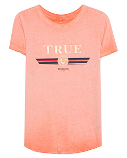 TRUE RELIGION Boxy Crew True Gold Orange