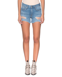 RAG&BONE Dre Destroyed Shorts Blue
