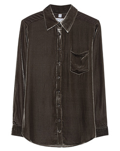 TRUE RELIGION Blouse Velvet Green