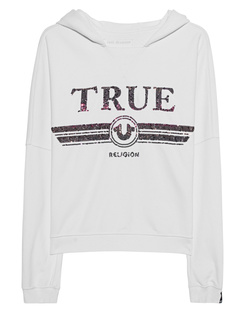 TRUE RELIGION Hood Sequin White