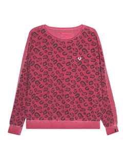 TRUE RELIGION Sweater Leo Print Red
