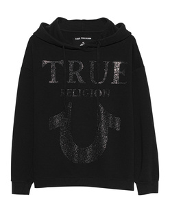 TRUE RELIGION Chrystal Horseshoe Hood Black