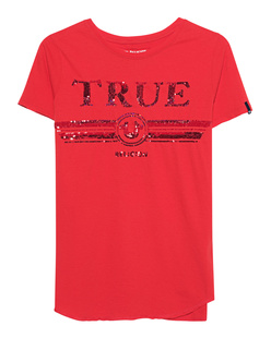 TRUE RELIGION Round Sequins Red