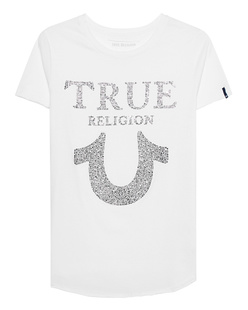 TRUE RELIGION Chrystal Horseshoe White