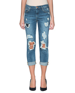 TRUE RELIGION Boyfriend Destroyed Denim Blue