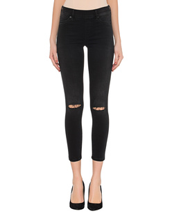TRUE RELIGION Jegging Knee Cut Black