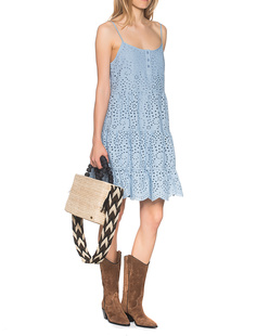 TRUE RELIGION Cotton Dress French Blue