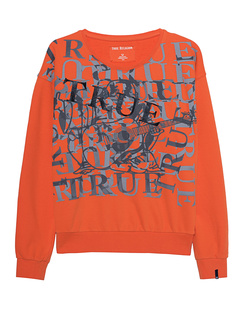 TRUE RELIGION Printed Logo Orange
