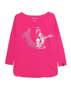 TRUE RELIGION Two Logo Longsleeve Pink
