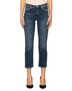 TRUE RELIGION Vintage Cropped Straight Blue