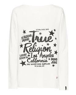 TRUE RELIGION Relax Rhinestones Blanc