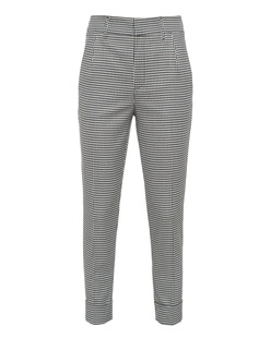 TRUE RELIGION Wool Houndstooth Black White