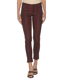 TRUE RELIGION Leather Skinny Bordeaux