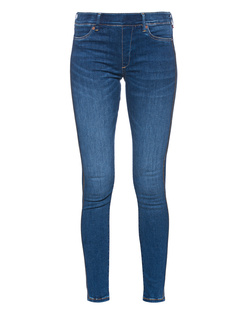 TRUE RELIGION Stripe Rhinestone Jeggings Blue