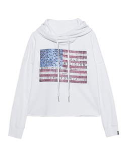 TRUE RELIGION Hoodie Crop American White