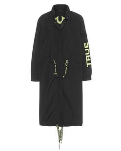 TRUE RELIGION Long Jacket Bomber Black