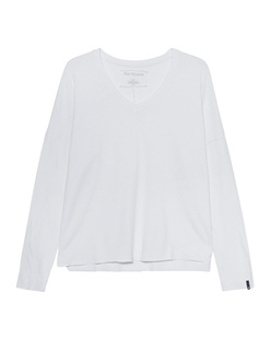 TRUE RELIGION Longsleeve V-Neck Relax White