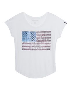 TRUE RELIGION T-Shirt American Flag White