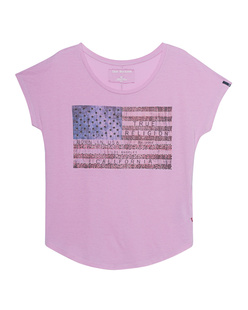 TRUE RELIGION T-Shirt American Flag Rose