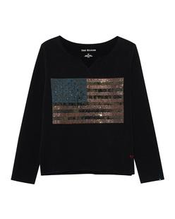 TRUE RELIGION American Flag Black