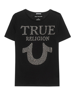 TRUE RELIGION Crew Neck Rhinestones Black