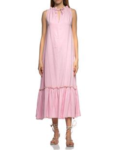 TRUE RELIGION Sleeveless Ruffle Long Vintage Pink