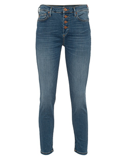 TRUE RELIGION Halle Button Fly Blue
