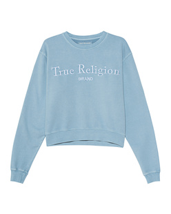 TRUE RELIGION Organic Cotton Boxy Blue