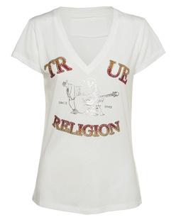 TRUE RELIGION Buddha Vneck Off-White