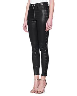 RAG&BONE Leather Lace Skinny Black