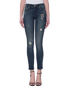 TRUE RELIGION Halle Mid Rise Super Skinny Dusty Haze