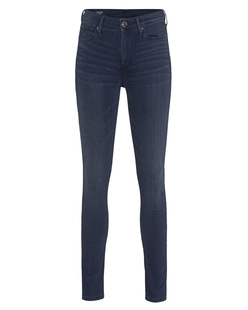 TRUE RELIGION Halle Mid Rise Super Skinny Black Pearl