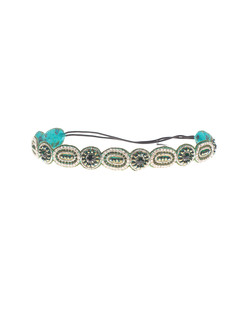 Deepa Gurnani Rich Circle Emerald Green Silver