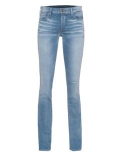 TRUE RELIGION Mid Rise Cora Straight Sea Glis