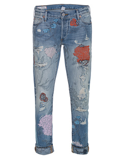 TRUE RELIGION Liv Relaxed Skinny CUQL Vintage Floral