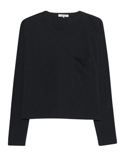 RAG&BONE The Cropped Longsleeve Black