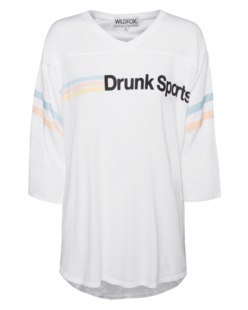 WILDFOX Drunk Sports Clean White