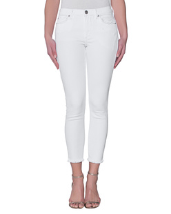 TRUE RELIGION Halle Crop Byz Optic White