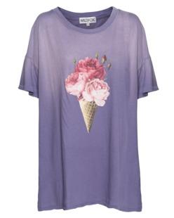 WILDFOX Floral Cone Tee Dirty Smokey Grape