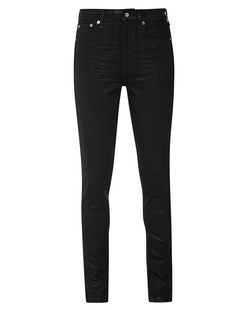 RAG&BONE NINA HR SKINNY COATED BLACK