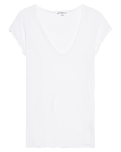 JAMES PERSE Sheer Slub Casual White