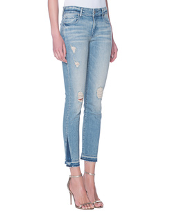 TRUE RELIGION Cora Straight Crop Blue Dream Destroyed