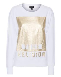 TRUE RELIGION Foil Gold White